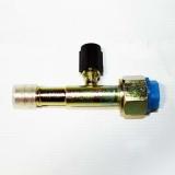 Фитинг соединительный, под обжимку, сталь, гайка — сталь, 5/8, G10, №10, #10 (13мм), 80°, без стакана, O-Ring,   с портом R134a.