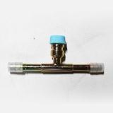 Фитинг врезной с сервисным портом R134а, под обжим, сталь, 1/2, G8, №8, #8 (10мм), 180° без стаканов.